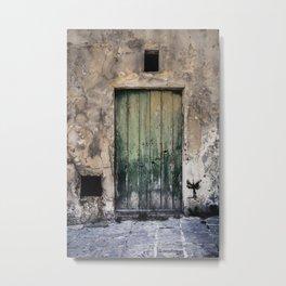 Green Door III Metal Print