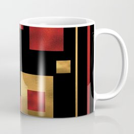 Red and Gold Foil Blocks Coffee Mug