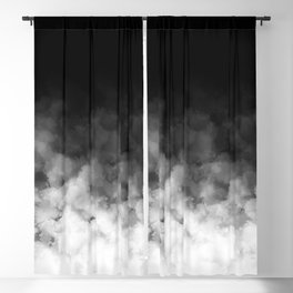 Ombre Black White Minimal Blackout Curtain