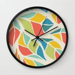 Colors of the wind fall leaves Wall Clock