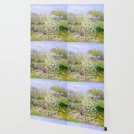 """Claude Monet """"Apple Trees in Bloom"""", 1873 Wallpaper"""