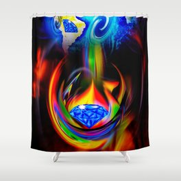 Our World Is A Magic - Is A Diamond Shower Curtain
