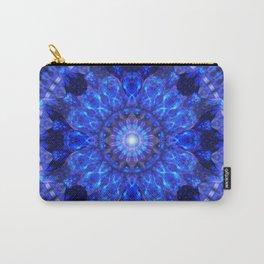 Azure Shield Mandala Carry-All Pouch