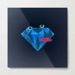 So hard, furry diamond  Metal Print