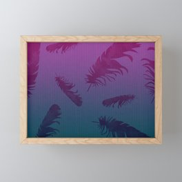 Falling Feathers Framed Mini Art Print