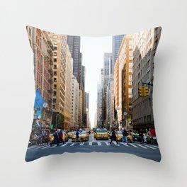 New York Minute Throw Pillow