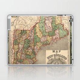 Map of New England 1847 Laptop & iPad Skin