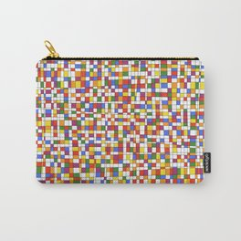 Rainbow Grid with White Background - Withstanding Carry-All Pouch