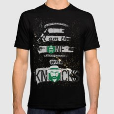 Breaking Bad Typography  LARGE Mens Fitted Tee Black
