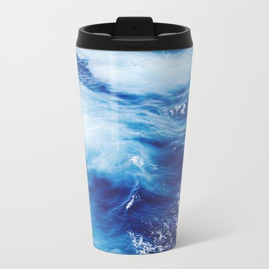 Blue Ocean Metal Travel Mug