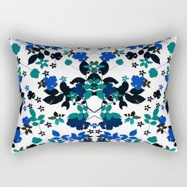 cobalt leaves Rectangular Pillow