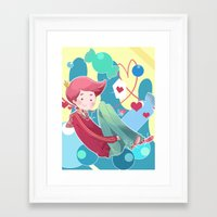 gumball Framed Art Prints featuring Prince Gumball by Sei00