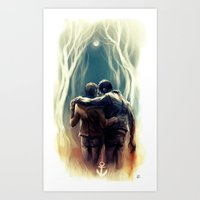 sterek Art Prints featuring sterek by AkiMao