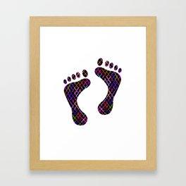 bunter Fussabdruck Framed Art Print