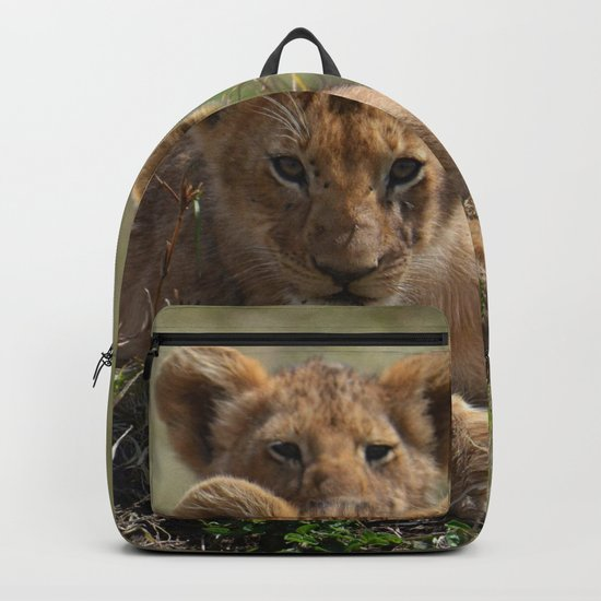 Two lion Clubs At Play Backpack