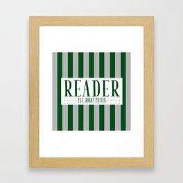 Reader Est. Slytherin Framed Art Print