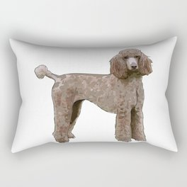 Elegant Poodle Rectangular Pillow