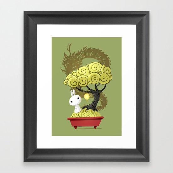 Bonsai Bunny Framed Art Print