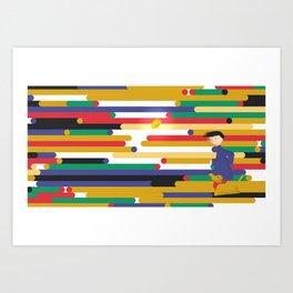 Chasing Sparks - Running Art Print