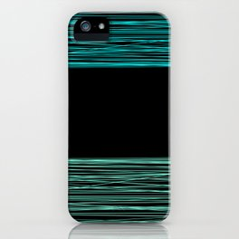 Thread , black and green iPhone Case
