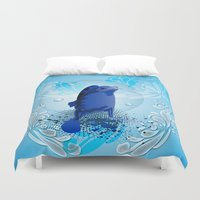 walrus Duvet Covers featuring Cute walrus  by nicky2342