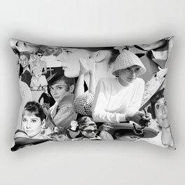 Audrey Hepburn Montage 1 Rectangular Pillow
