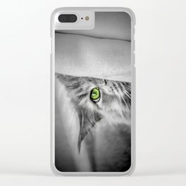 Small brother is watching you (b&w) Clear iPhone Case