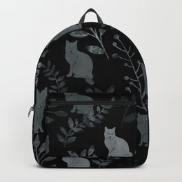 Watercolor Floral and Cat III Backpack