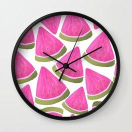 Watercolour Watermelons Wall Clock