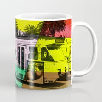 melbourne Mugs featuring Melbourne Tram by Jan Neil Oz Images