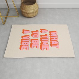 What A Time To Be A Vibe: The Peach Edition Rug