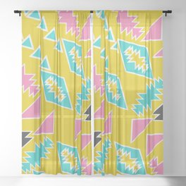 Geometric sunbathing Sheer Curtain