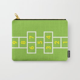 Hopscotch Green Carry-All Pouch