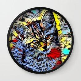 Color Kick - Kitten Wall Clock