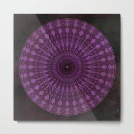 Purple Psychedelic Mandala Kaleidoscope Metal Print