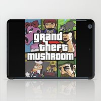 grand theft auto iPad Cases featuring Grand Theft Mushroom by Ben Clark