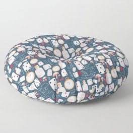 Alice in Wonderland - Six Impossible Things Floor Pillow