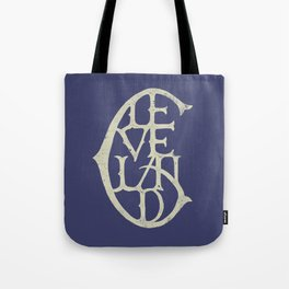 Vintage Cleveland Typography (Dark) Tote Bag