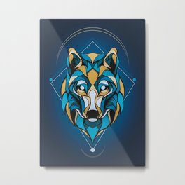 The Arctic Wolf Head Wild Metal Print