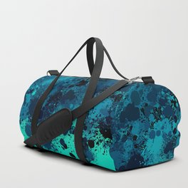 paint splatter on gradient pattern bt Duffle Bag