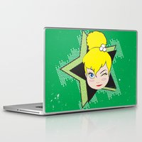 tinker bell Laptop & iPad Skins featuring I Am Smart - Tinker Bell by AmadeuxArt