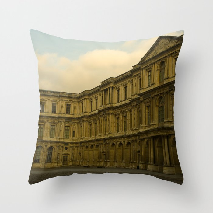 Palais du Louvre Throw Pillow