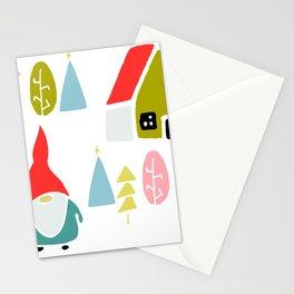 Christmas gnome Stationery Cards