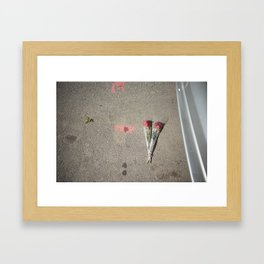 Say it with flowers Framed Art Print