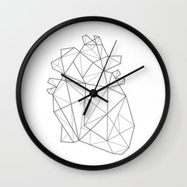 Origami Heart Wall Clock