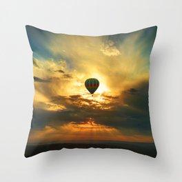 Balloon in the Sky Throw Pillow