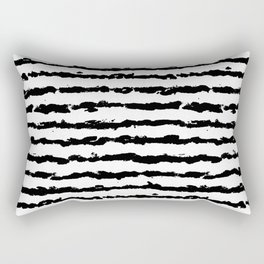 Brush Stripes Rectangular Pillow