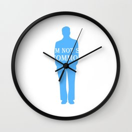 Men's I Am Not So Common Unique T-Shirt for Men Be Yourself Wall Clock