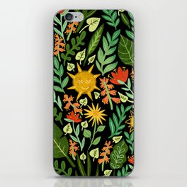 Sunshine Botanical - Dark Version iPhone Skin