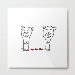 Valentine bears by 10 yr old Valentina Metal Print